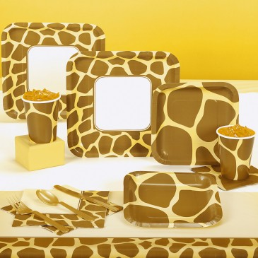 Animal Print Giraffe Party Pack for 8